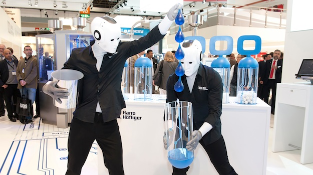 Messestand Idee: Messe Show mit Robotern