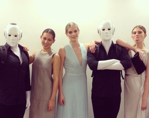 Hugo Boss Event Brüssel Show Models und Roboter