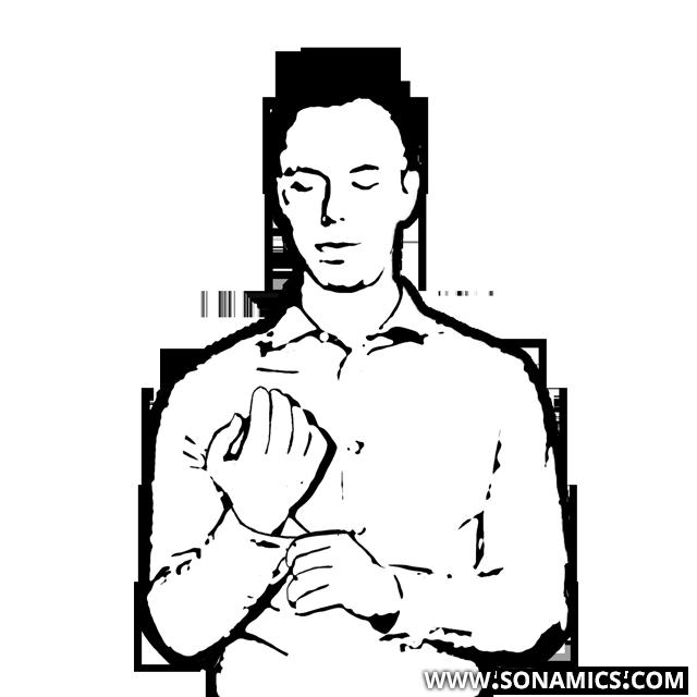 Körpersprache 26 Zupfen