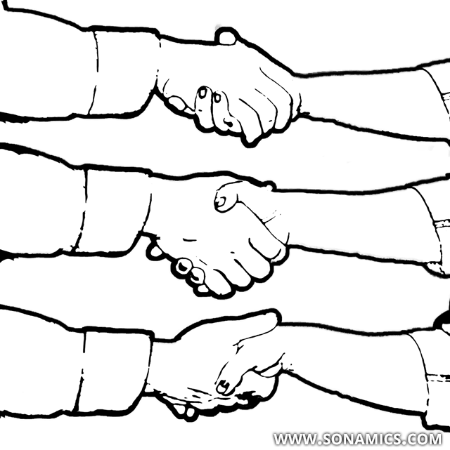 Körpersprache 46 Hände schütteln