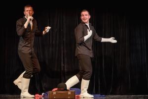 Teatrul Gong Sibiu Rumänien Theater Show leise auf der Bühne