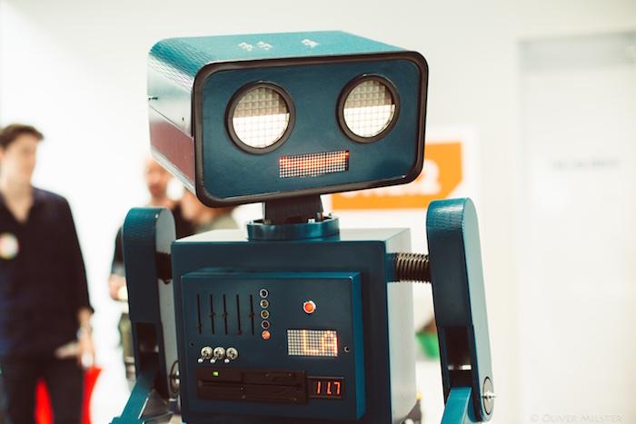 Hugo sprechender Roboter Open Innovation Space Berlin Ottobock Fab Lab Eröffnung