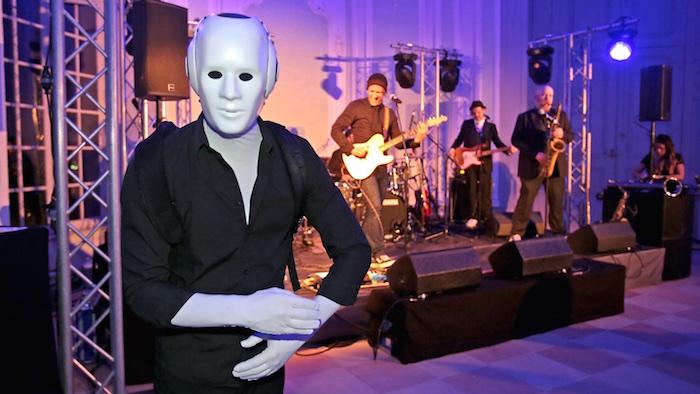 Weihnachtsfeier Künstler Roboter Band SAS 2014 Schloss Schwetzingen