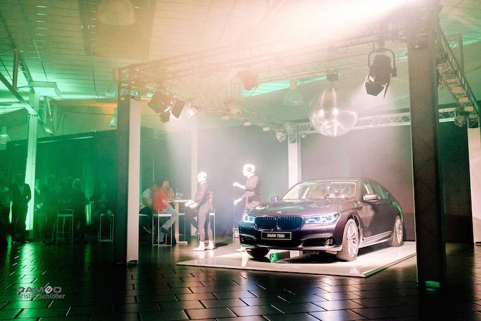 BMW 7 Präsentation Kaltenbach Show Vorhang