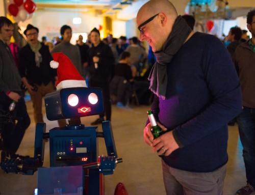 Twilio Winterparty: Startup Weihnachtsfeier mit Robotern, Eulenweitwurf und Arcade Automaten