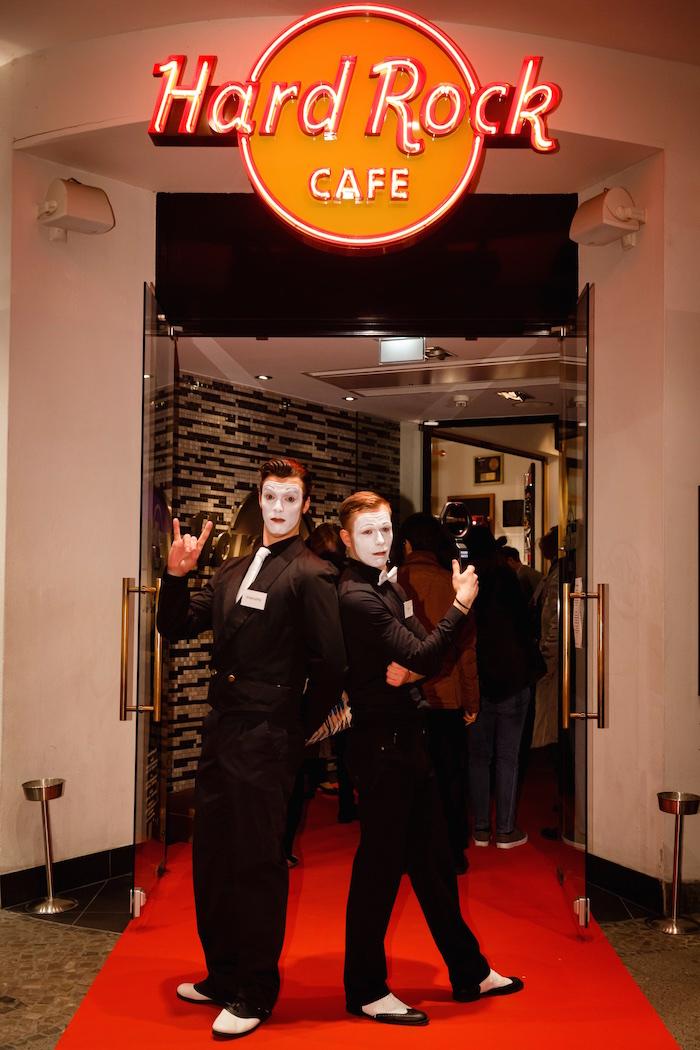 Pantomime Mime Gentleman Hard Rock cafe Berlin ITB Party Eingang