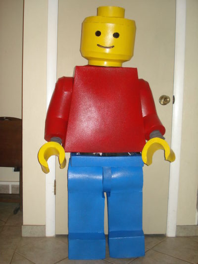 Lego Man Costüm Kostüm citizen eraser