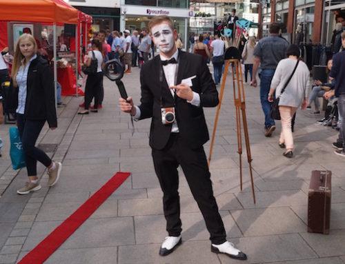 Kamp Promenaden in Osnabrück: Pantomime Künstler zum Kleinkunstfest mit der mobilen Fotobox