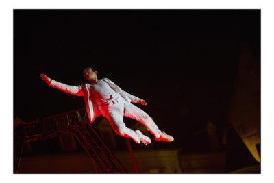 Sraßenheater Festival Luxembourg fliegender Mann