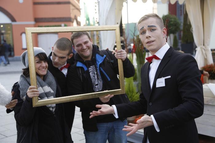 Pantomime Visual Comedy Butlers Foto großer Namen Wustermark