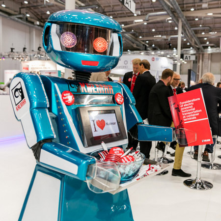 Oscar the robot for hire event