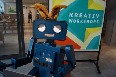 Roboter Osterhase Ohren Easter bunny ears robot 700