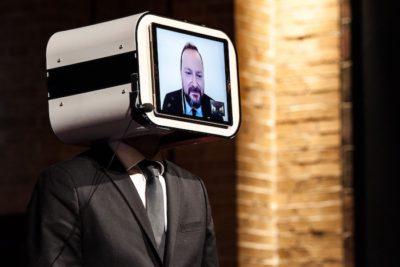 speaker doubling david orban conference telepresence robot close