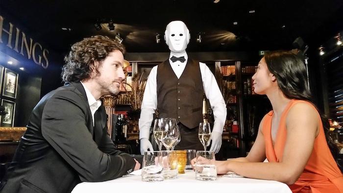 humanoid robot event waiter actor costume