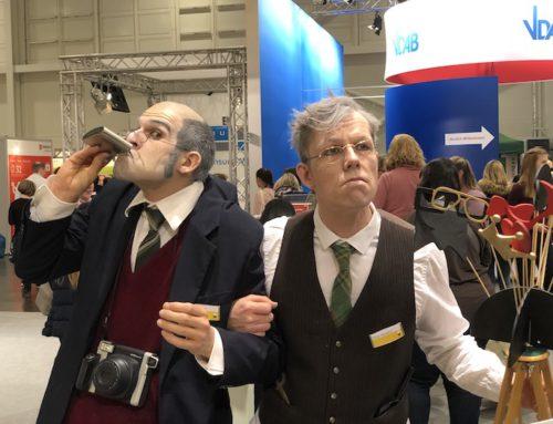 """Alter Mann Kostüm Walkact: """"Die Grandpas"""" Künstler für Altenpflegemesse"""
